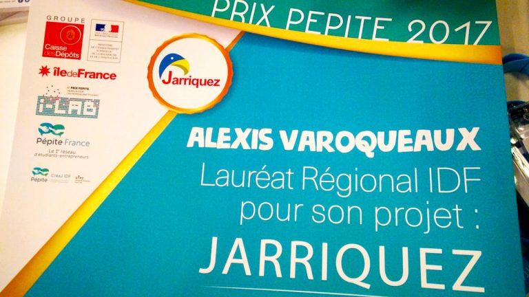Jarriquez lauréat régional du Prix Pépite